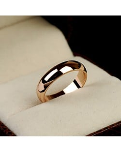 Polishing Surface Engagement Rose Gold Ring