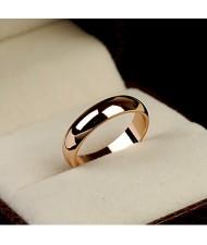 Polishing Surface Engagement Rose Gold Ring