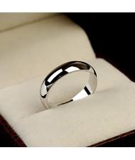 Polishing Surface Engagement Platinum Ring