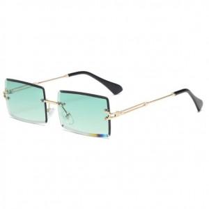 6 Colors Available Frameless Design Square Gradient Color Lens High Fashion Sunglasses