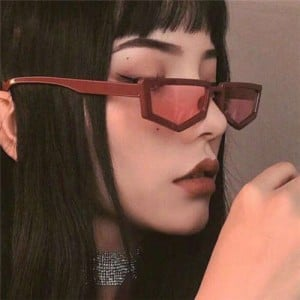 Polygon Frame Women Vintage Fashion Sunglasses