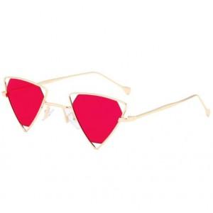 6 Colors Available Unique Trangle Frame Punk Fashion Women/ Men Sunglasses