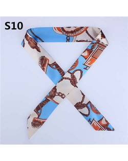 Slim Style High Fashion Prints Artificial Silk Women Scarf