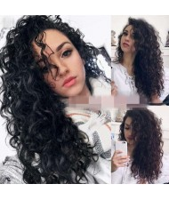 African Curly Style Fluffy Long Hair Internet Celebrity Preferred High Fashion Women Synthetic Wig