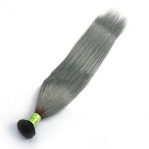 1 Bundle 1b/Gray Gradient Color Straight Virgin Human Hair Weaves/ Wefts