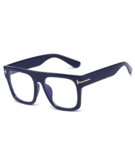 6 Colors Available Bold Frame Design Office Lady Fashion Women Plain Glasses