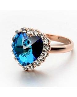 Heart Of Ocean Sapphire 18K Rose Gold Ring