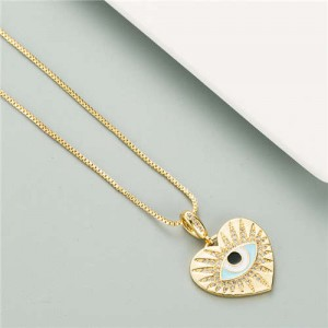 Shining Peach Eye Pendant Golden High Fashion Women Necklace