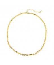 Mothers Day Theme Golden Short Western Fashion Necklace