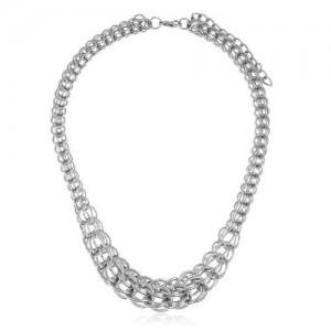 Bold Fashion Plain Chain Style Short Hip-hop Necklace