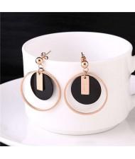 Bold Rounds Combo Women Stainless Steel Earrings
