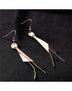 High Fashion Triangles and Tassel Combo Stainless Steel Women Earrings