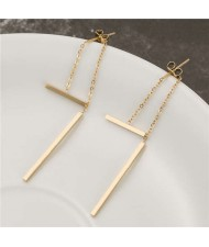 Simple Sticks Combo Stainless Steel Earrings - Golden