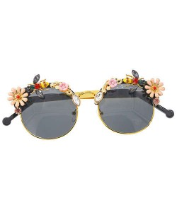 Bees and Flowers Combo High Fashion Women Costume Sunglasses