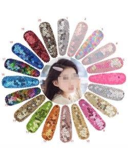 (20 pcs) Colorful Sequins Baby Girl/ Kids Fashion Hair Clip Set