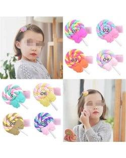 (8 pcs) Lollipop Design Baby Girl Hair Clip Set/ Hair Accessories