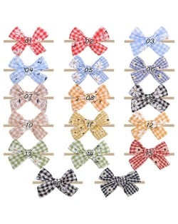 (17 pcs) Daisy and Lattice Bowknot Korean Fashion Baby/ Toddler Hair Band Set