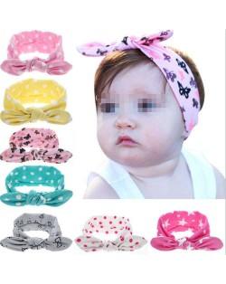 (8 pcs) Hight Fashion Elements Prints Cute Bowknot Baby/ Toddler Cloth Hair Band Set