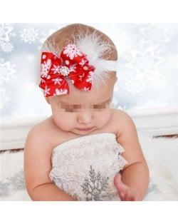 Snowflake Red Bowknot Design High Fashion Baby/ Toddler Hair Band