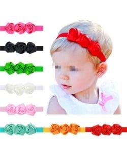 (8 pcs) Roses Decorated High Fashion Baby Girl Hair Band Set