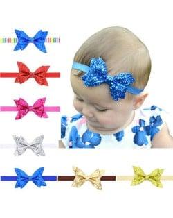 (7pcs) Shining Attractive Dual Layers Bowknot Baby/ Toddler Hair Band Set