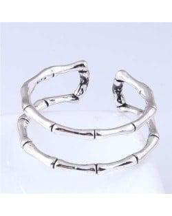 Skeleton Design Punk Fashion Copper Ring