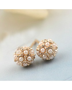 Mini Pearl Ball Ear Studs