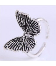 Vintage Butterfly Design Western Fashion Women Wholesale Ring