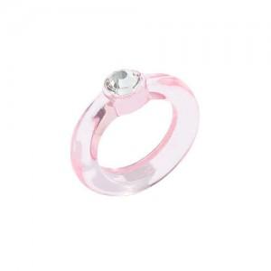 U.S. High Fashion Acrylic Costume Ring - Pink