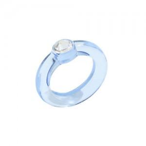 U.S. High Fashion Acrylic Costume Ring - Blue