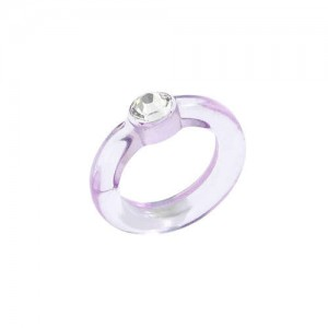 U.S. High Fashion Acrylic Costume Ring - Violet
