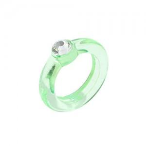 U.S. High Fashion Acrylic Costume Ring - Green