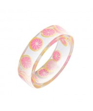Fruits Fashion Acrylic Women Wholesale Ring - Lemon