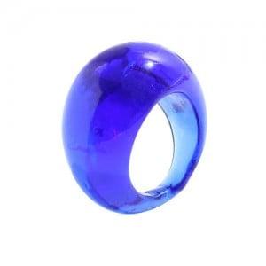 Bold Western Fashion Resin Wholesale Ring - Blue