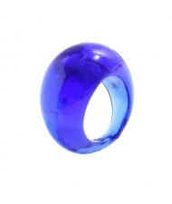 Bold Western Fashion Resin Wholesale Ring - Blue