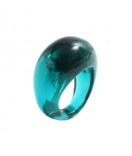 Bold Western Fashion Resin Wholesale Ring - Green