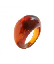 Bold Western Fashion Resin Wholesale Ring - Brown