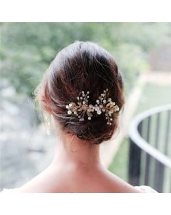 Hand-made High Quality Pearl Style Floral Women Bridal Wedding Fashion Hair Comb