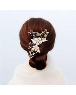 Korean Fashion Flowers Shining Women Bridal Hair Comb/ Hair Ornament