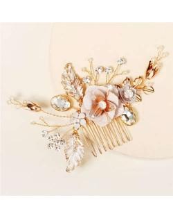 Painted Flowers Design Gorgeous Wedding Women Hair Comb/ Hair Ornament