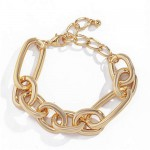 Punk Fashion Simple Design Alloy Costume Bracelet - Golden