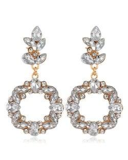 Shining Resin Flowers Fashion Women Alloy Wholesale Stud Earrings - White