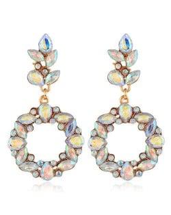 Shining Resin Flowers Fashion Women Alloy Wholesale Stud Earrings - Luminous White