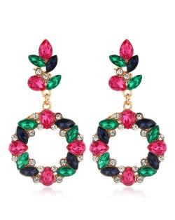 Shining Resin Flowers Fashion Women Alloy Wholesale Stud Earrings - Multicolor