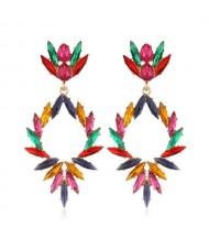 Creative Leaves Pattern Hollow Women Wholesale Drop Earrings - Multicolor