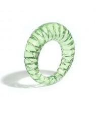 Vintage High Fashion Transparent Women Resin Ring - Green