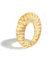 Vintage High Fashion Transparent Women Resin Ring - Orange