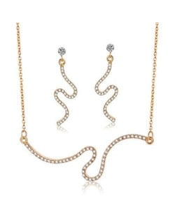 Snake Inspired Design High Fashion Shining Women Jewelry Set