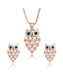Creative Night Owl Design U.S. and European Fashion Women Jewelry Set