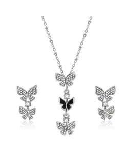 Korean Fashion Butterflies Combo Design Women Alloy Jewelry Set